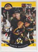 Autographed 90/91 Pro Set Garth Butcher - Canucks