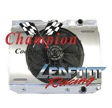 1959-1965 4 Row Core Chevy El Camino Champion Cooling Radiator With Shroud & Fan