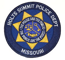 HOLTS SUMMIT MISSOURI MO Police Sheriff Patch SCALE OF JUSTICE KEY HANDSHAKE ~