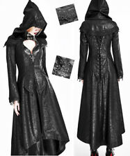 Retro Ritual Hooded Leather Coat Gothic Lolita Baroque Embroidered Cape PunkRave