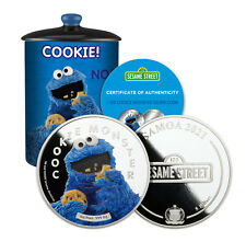 More details for official sesame street gift cookie monster collectable 2oz silver coin $5 2021