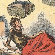 1880's MAN'S WAKE UP CALL, ARBUCKLES' ARISOA COFFEE TRADE CARD, FREE SHIP, TC582