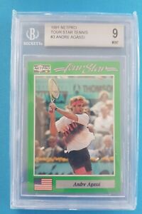 1991 ANDRE AGASSI Netpro Tour Star Rookie RC BGS 9 🔥🔥