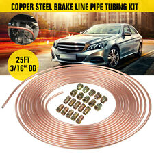 "Roll 25 ft 3/16"" Copper Brake Pipe Line Tubing Kit w/ 10 Male & 10 Female"