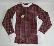 Soulland Jonassen Shirt Men's Red/Yellow Plaid Special Shirts Size Medium - NWT