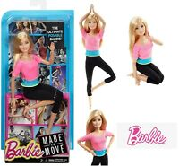 Barbie Made to Move Doll, Pink Top