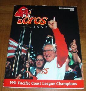 VINTAGE 1992 TUCSON TOROS  BASEBALL PROGRAM - HOUSTON ASTROS AFFILIATE - RARE