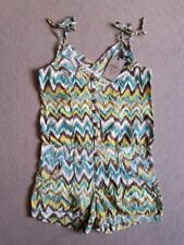URBAN BLISS AZTEC PLAYSUIT SUMMER HOLIDAT MULTI COLOUR YELLOW BLUE BROWN 8 - 10