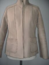 Ladies winter jacket faux suede fur lining size 14 IN VG USED CONDITION