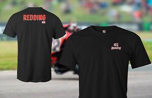 Scott Redding 45 - WSB World Super Bikes Black Tee shirt plus back detail