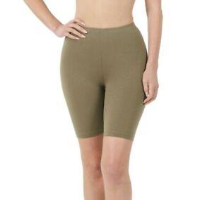 Zenana Bike Shorts Longer Length Stretch Cotton Blend S-XL Plus Size 1X-3X 1804