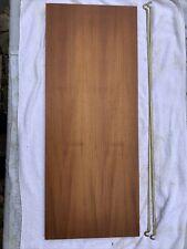 Ladderax teak shelf long Deep 89cm x 35.5cm with 2 support bars (27B)