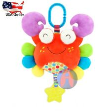 Baby Toys Colorful Infant Stroller Plush Animal Bell Squeaker Crib Crab