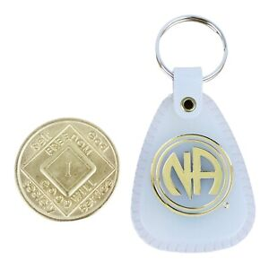Narcotics Anonymous 1 Year Medallion and Keytag English Moonglow