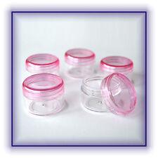 5 Stück Dose Döschen Cremedosen Cremetiegel leer Schraubdeckel hell-pink Neu