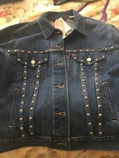 Levi's Studded Denim Jean Jacket XL Ex-Boyfriend Trucker Women's Limited Edition