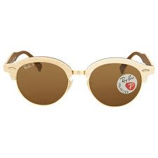 Ray Ban Clubround Wood Polarized Brown Classic B-15 Sunglasses