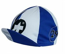 Cycling Cap ASSOS Royal Blue & White Made In Italy 100% Cotton Racer Retro EURO