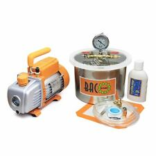 BACO 1.5Gallon Vacuum Chamber with 3.6CFM Single Stage Rotary Vane Vacuum Pump