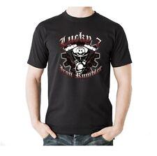 T-Shirt Biker Harley Davidson Route 66 Motorrad Lucky 7 Skull Gangster Motiv 76