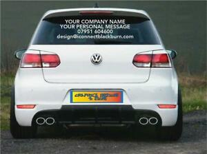 ANY TEXT & WORDS STICKERS Car Van Shop Rear Windscreen Door Sign Writing Vinyl