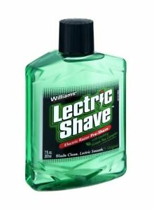 Williams Lectric Shave Electric Razor Pre Shave Soothing Green Tea 7oz USA New