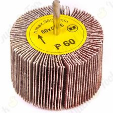 60 GRIT FLAP WHEEL SANDING DRILL BIT Woodworking Sand/Smooth Wood/Metal/Stone