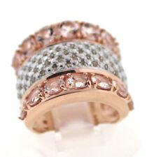 Champagne Diamond .43 Ctw & Morganite 3.22 Ctw. Engild ™ Cigar Band Ring Size 5