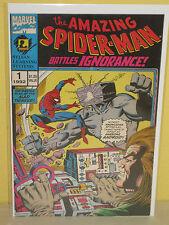 AMAZING SPIDER-MAN #1 - Battles Ignorance! - SYLVAN LEARNING SYSTEMS  Promo 1992