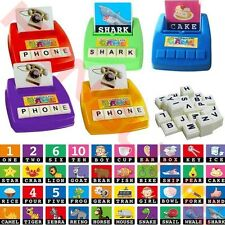 English Spelling Toys Alphabet Puzzle Game Picture Flash Card Early Educational