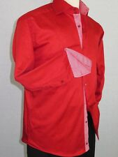 Men Shirt J.Valintin Turkey Usa Egyption Cotton Axxess Style 1514 Christmas Red