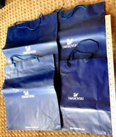 4 New HUGE Heavy-Duty Swarovski Crystal Box Storage Gift Bags Genuine USA Seller