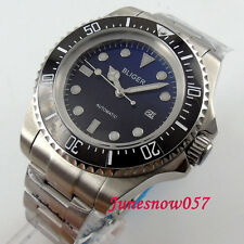 BLIGER 44mm Gradient color dial luminous Ceramic bezel Automatic men's watch