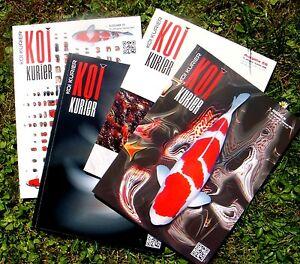4 versch. KOI Magazine, Teich, Garten, KoiKurier, Klan, Midori, Zeitschriften