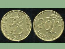 FINLANDE 20 pennia 1977
