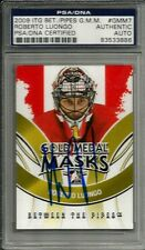2009 ITG Between The Pipes Roberto Luongo Signed Auto Card PSA/DNA Slabbed