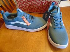 nwt mens vans cerus rw lightweight sneakers size 10 blue mirage/white