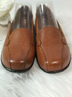 Clarks Bendables Loafers Brown Leather Size 7 1/2W  7.5W