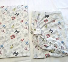 Monopoly Twin Flat and Fitted Sheet Set Free Parking Dice Car Vintage Board Game