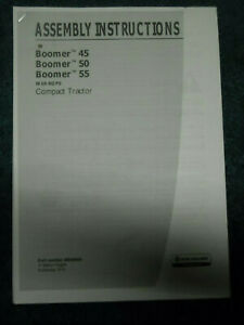 59 page New Holland Assembly Instructions Boomer 45, 50, 55 tractors with ROPS