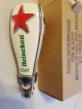 "Heineken Light Red Star Brew Lock 6.5"" Draft Beer Keg Bar Tap Handle Shift Knob"