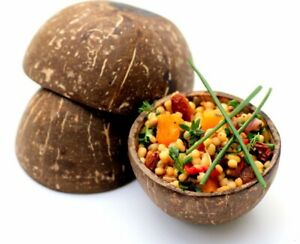 Natural Reusable Coconut Bowls Cups - Strong Food Party Snacks Nibbles Cute Acai