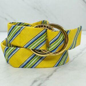 Lauren Ralph Lauren Multicolor Striped Linen Belt One Size
