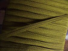 GA ANCIEN GALON PASSIFLORE VERT BRONZE vendu par multiple de 2 mètres  16mm