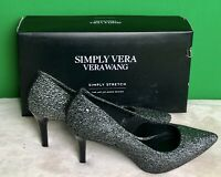 Simply Vera Vera Wang Svstevie Simply Stretch Heels Shoes Lurex Sz 7 and 8.5 NEW