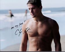 CHANNING TATUM autographed 8x10 color photo          SEXY+SHIRTLESS POSE