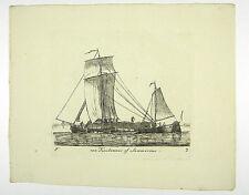 SEGELSCHIFF ZWEIMASTER HANDEL KUPFERSTICH ANSICHT GROENEWEGEN 1806 AD #D896S