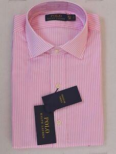 NWT Polo Ralph Lauren 15 1/2 39 Dress Shirt Soft Cotton Oxford Pink Striped L/S