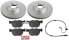 FOR BMW X5 E70 3.0 (2000-2009) FRONT BRAKE DISCS & PADS + SENSORS SET *NEW*