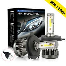 2x H4 LED Headlight 9003 HB2 Hi-Low Beam Conversion Kit 2200W 31000LM Bulb 6000K